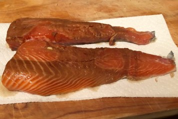 Dry the salmon skin for a nice sear.