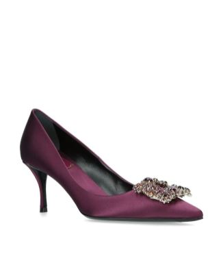 satin berry heel