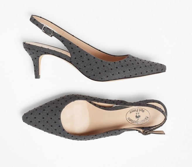 dot slingbacks