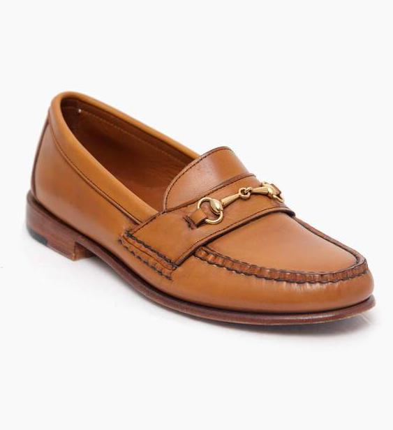 tan loafer