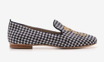 Boden houndstooth loafer
