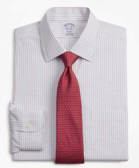 Brooks Brothers Regent Fitted Dress Shirt, Non-Iron Grid Check