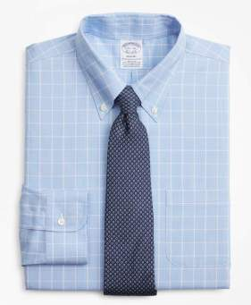 Brooks Brothers Stretch Regent Fitted Dress Shirt, Non-Iron Micro-Check