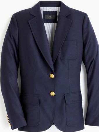 J.Crew navy school boy blazer