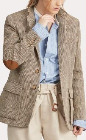 Ralph Lauren tweed elbow patch blazer