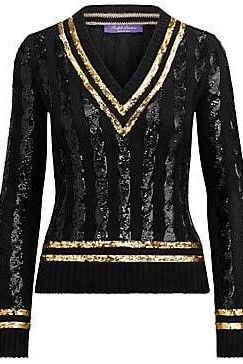 black sequin polo