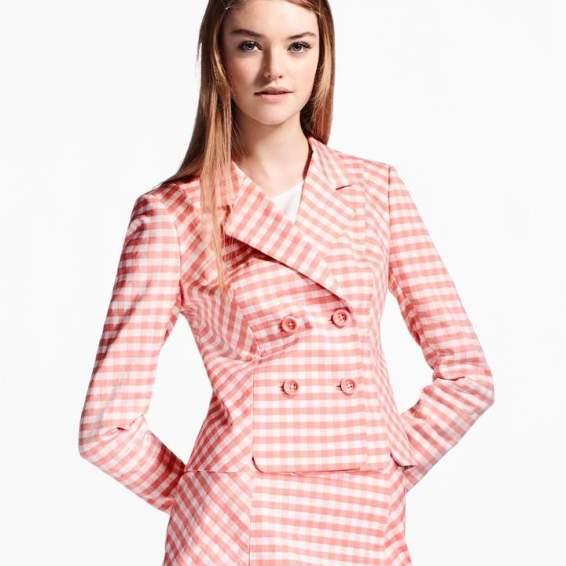 gingham suit