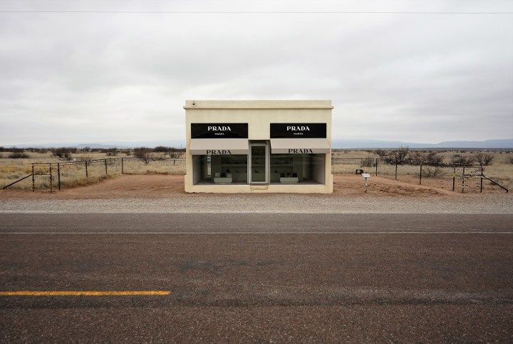 You got a, Prada {Marfa}, bag with a lotta, stuff in it