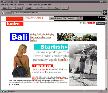 Lucire home page, October 20, 1997