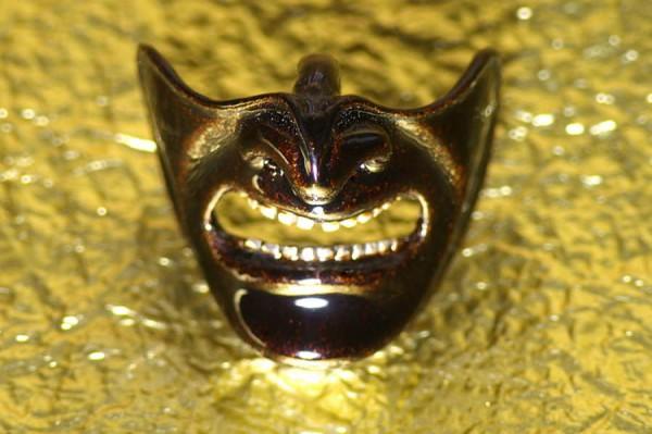Samurai mask A black