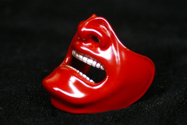 samurai mask A red
