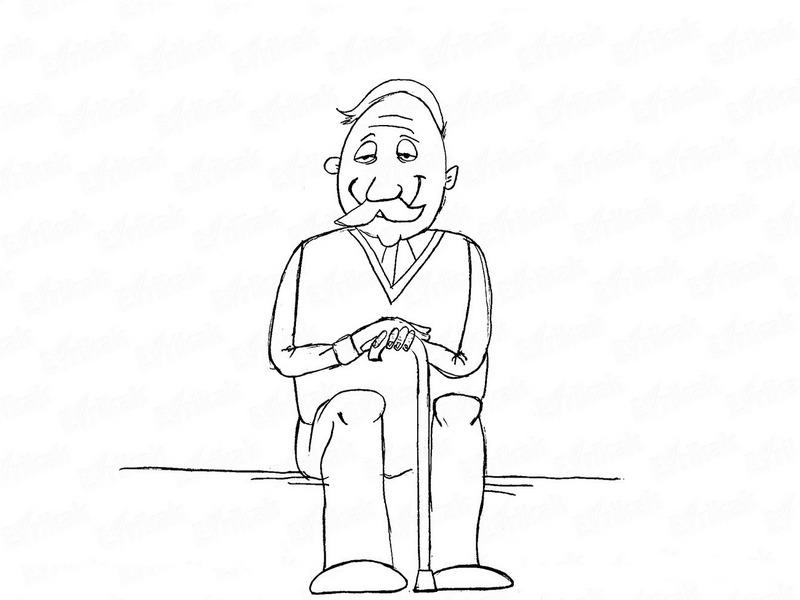 Нарисовать дедушке картинку