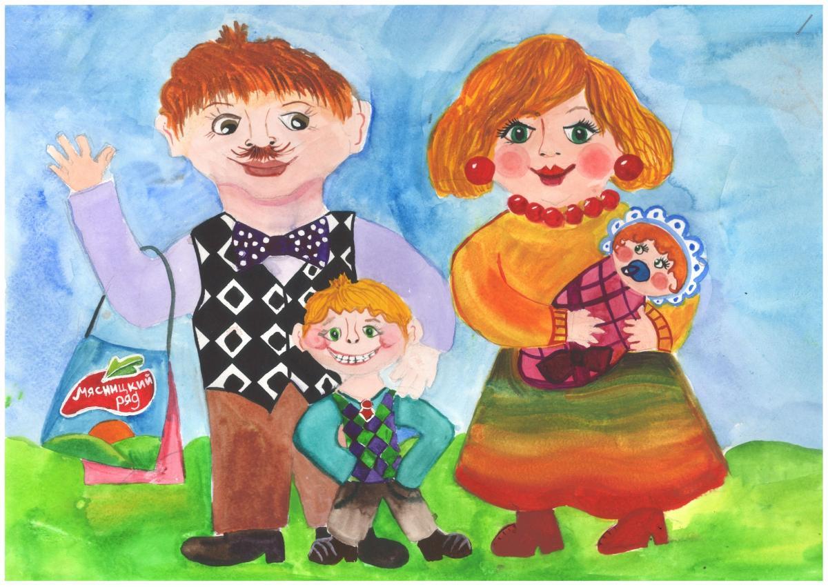 Семья детские работы картинки