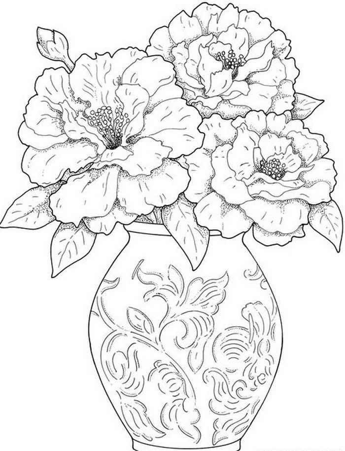 Ливнах доставка, шаблон букета цветов для вырезания