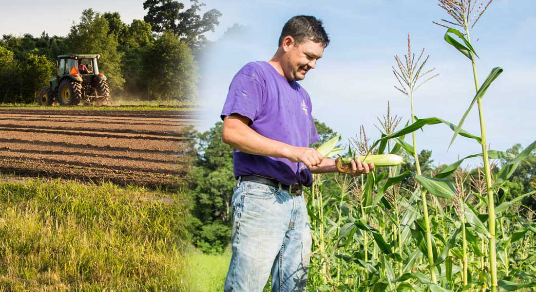 Derek takes pride in being a farmer for his community