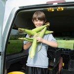 Dalton with come fresh corn