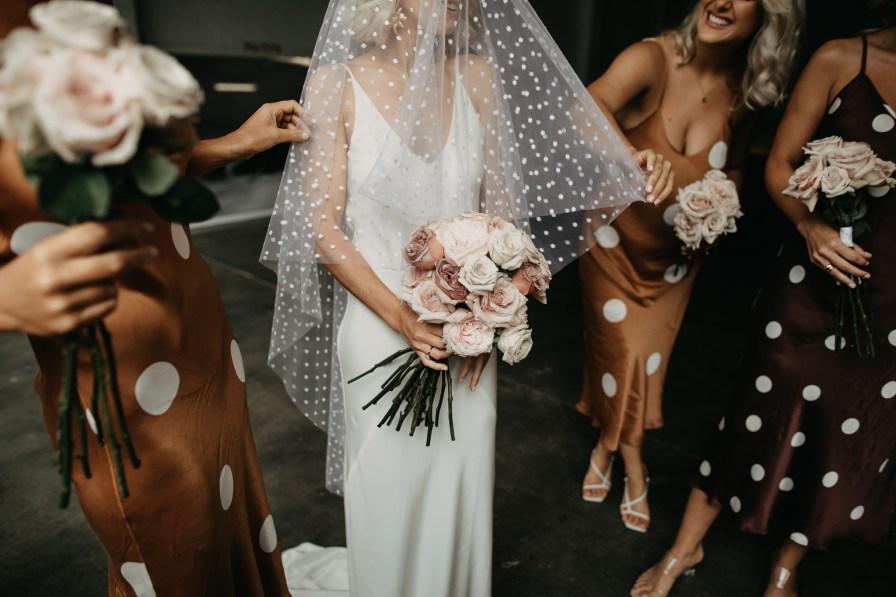 polka dot spotty silk laundry slip dress bridesmaids