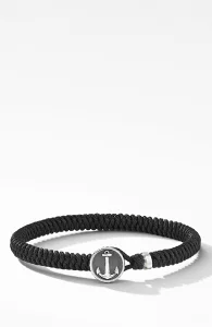 デイビット・ユーマン Maritime Anchor Station Black Nylon Bracelet