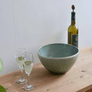【信楽焼】ワインクーラー モザイク