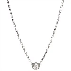 カルティエ/Cartier ディアマン レジェ ネックレス SM ホワイトゴールド K18WG 1Pダイヤ