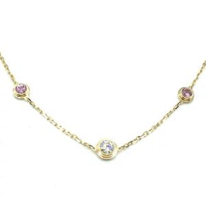 カルティエ(Cartier)K18PG ディアマンレジェ3P ダイヤモンド/ピンクサファイア ピンクゴールド