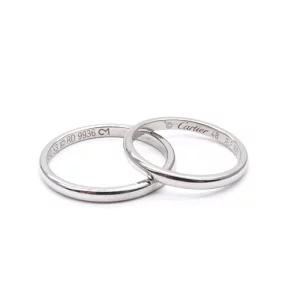 Cartier カルティエ 1895 ウェディング ペアリング Pt950 結婚指輪