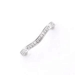 Cartier カルティエ バレリーナカーブ ハーフエタニティ ダイヤリング