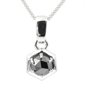 アトラス プラチナネックレス ブラックダイヤモンド 1ct トップ pt900