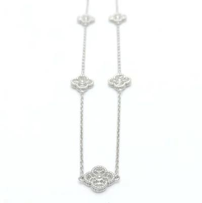 ヴァンクリーフ&アーペル Van Cleef & Arpels スウィート アルハンブラ ネックレス 16P ダイヤモンド K18WG