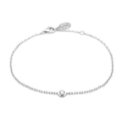 カルティエ ディアマン レジェ ダイヤモンドブレスレット 18Kホワイトゴールド B6037200