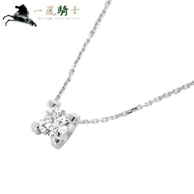 カルティエ ネックレス K18WG×1P ダイヤモンド 393215