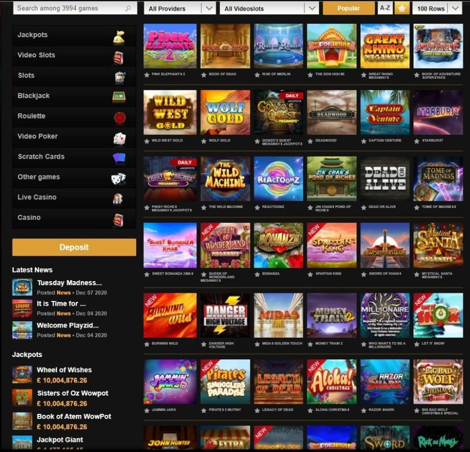 Video Slots Game Collection