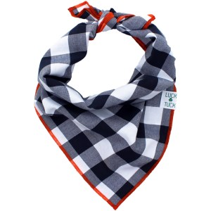 plaid dog bandanas