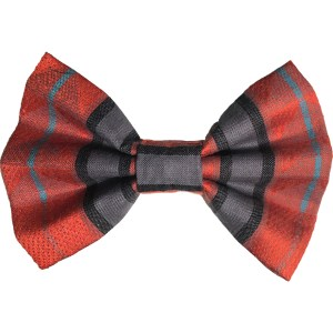 fall Aztec knit dog bowtie