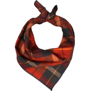 plaid thanksgiving dog bandana