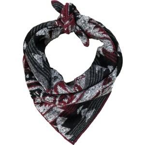 burgundy, black + grey geometric Aztec dog bandana