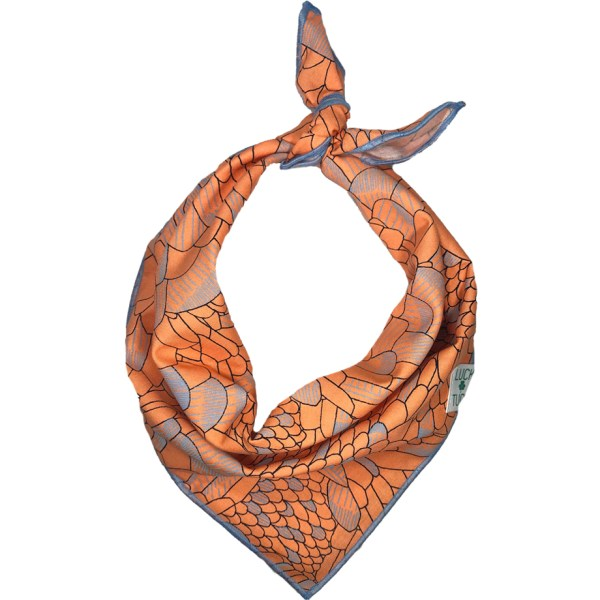 ORANGE FEATHERS DOG BANDANA