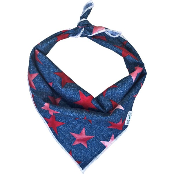 red white and blue stars dog bandana