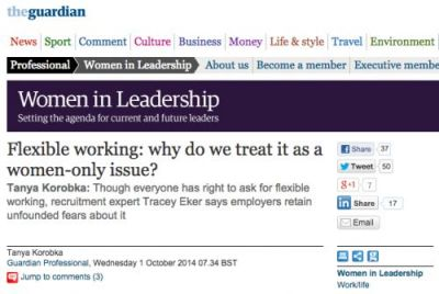 O.M.G We're In Guardian: Why Do We Treat Flexible Working As A Women-Only Issue?