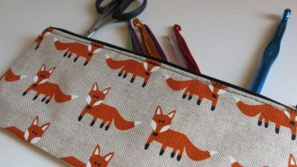 Fox pencil case - available now!