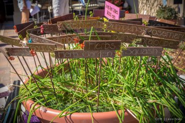 Garden markers by Loveland artist Dixie Straight