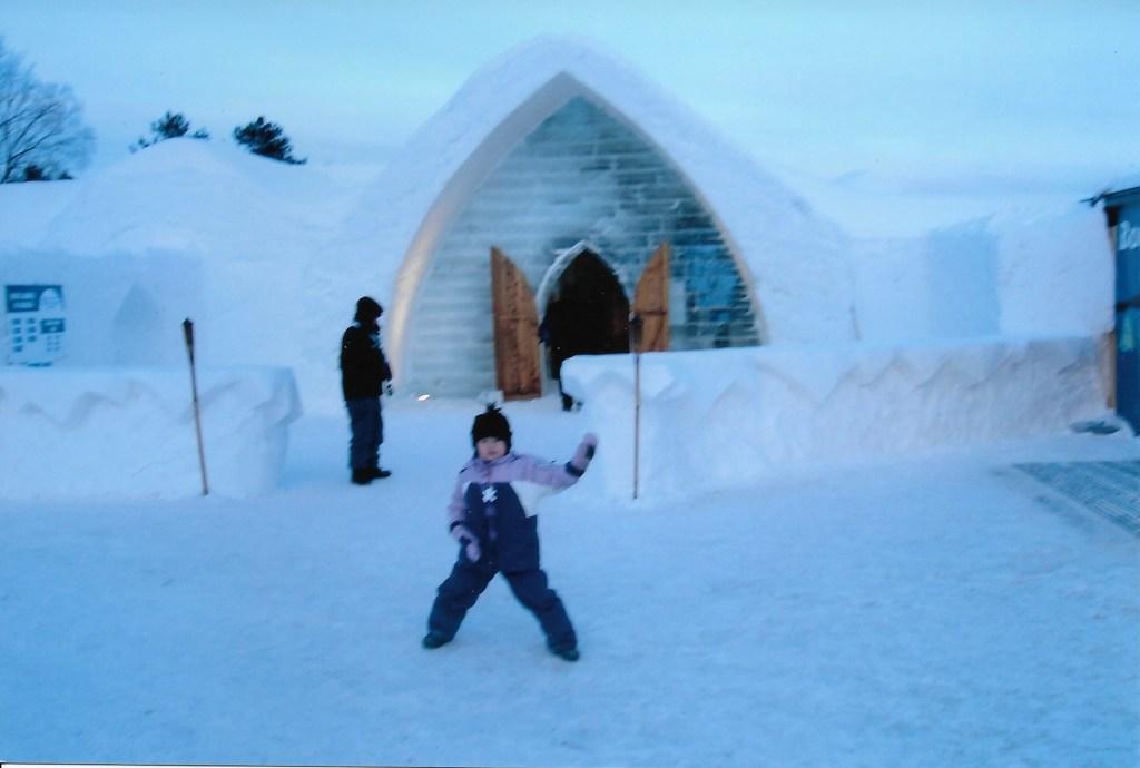 Baby Bug exterior of Ice Hotel Quebec City