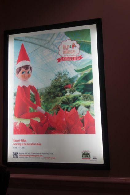 Elf on the Shelf scavenger hunt Nashville Gaylord Opryland Hotel