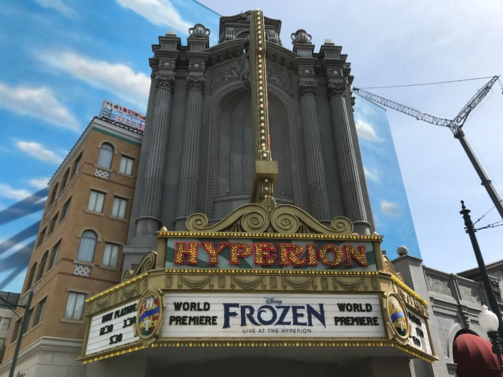Frozen Hyperion Theatre DCA