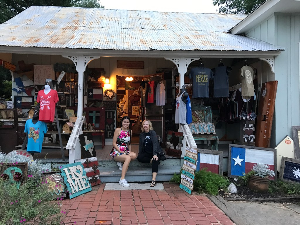 Gruene antique store with Baby Bug and GG Bug