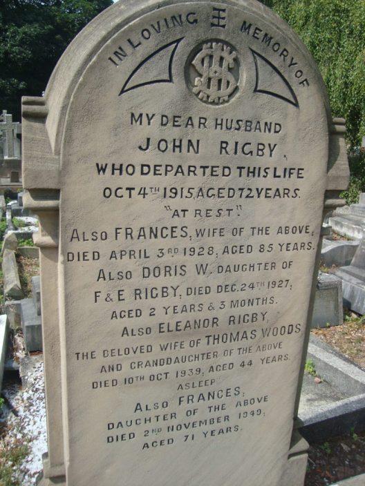 Eleanor Rigby headstone