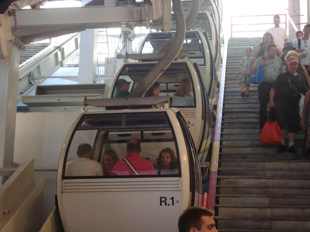 cable car Santorini Greece