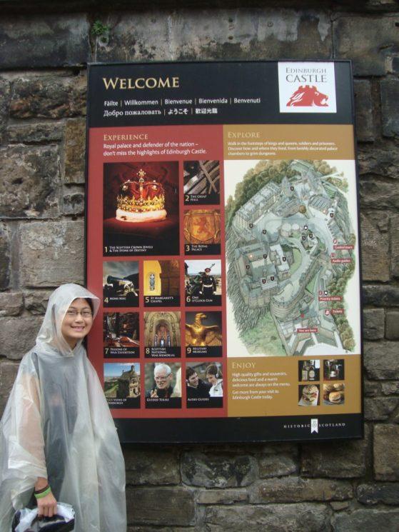 Baby Bug at the entrance to Edinburgh Castle, Edinburgh Scotland