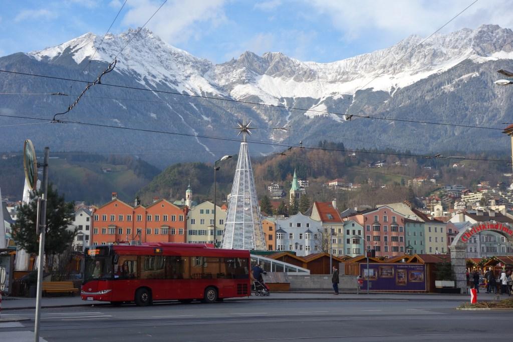 swarovski Christmas tree, Innsbruck, Austria