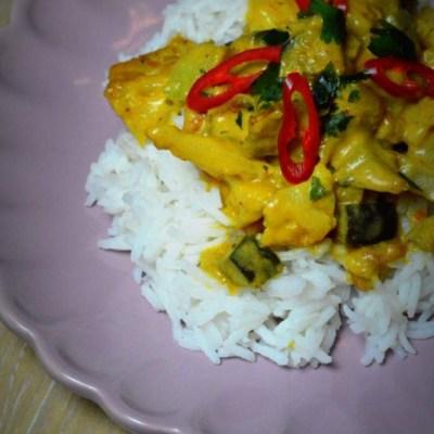 curry de legume cu orez